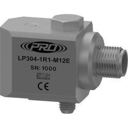 LP304-M12E loop power rezgésgyorsulás érzékelő és távadó: 4-20 mA, oldalsó kivezetésű 4 Pin-es M12-es csatlakozó