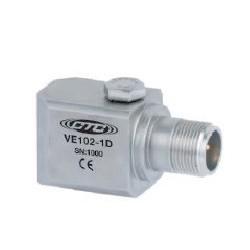 VE102 általános célú rezgéssebesség érzékelő: 4mV/mm/sec érzékenység, oldalsó kivezetésű