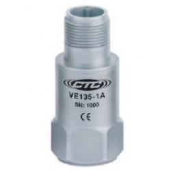 VE135 általános célú rezgéssebesség érzékelő: 20mV/mm/sec érzékenység, felső kivezetésű