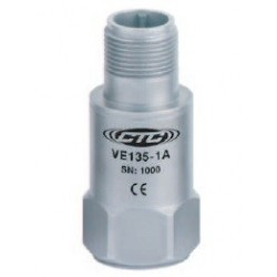 VE135 Piezo Electric Velocity Sensor, Top Exit Connector/Cable, 500 mV/in/sec
