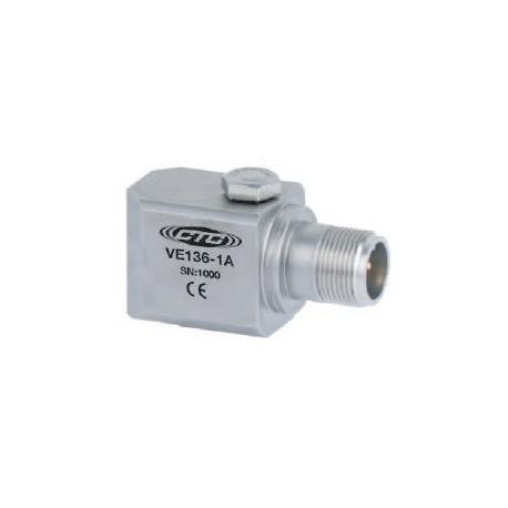 VE136 általános célú rezgéssebesség érzékelő: 20mV/mm/sec érzékenység, oldalsó kivezetésű