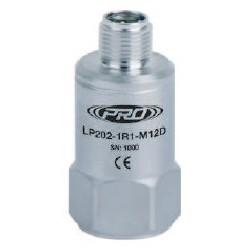 LP202-M12D loop power rezgéssebesség érzékelő és távadó: 4-20 mA, felső kivezetésű M12-es csatlakozó