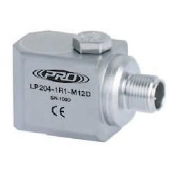 LP204-M12D loop power rezgéssebesség érzékelő és távadó: 4-20 mA, oldalsó kivezetésű M12-es csatlakozó